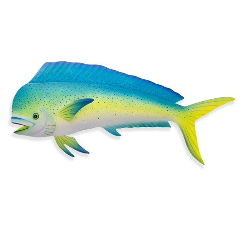 "(OS120)  40"" ""Large Mahi Mahi""  Metal Wall Sculpture"