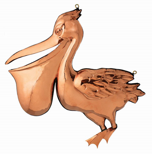 """(MDWVH-114P POL) 18"""" Hanging Polished Copper Pelican"""