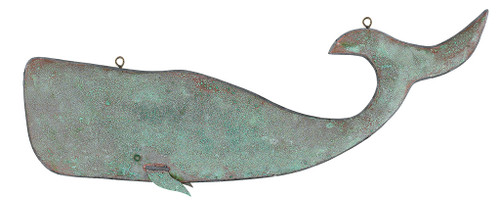 "(MDWVH-102 ANT) 38"" Hanging Antique Copper Whale"