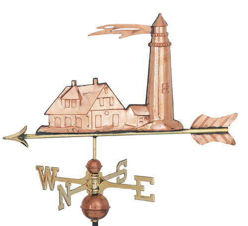"(MDWV-310P) Extra Large 31"" Copper Lighthouse Weather Vane"