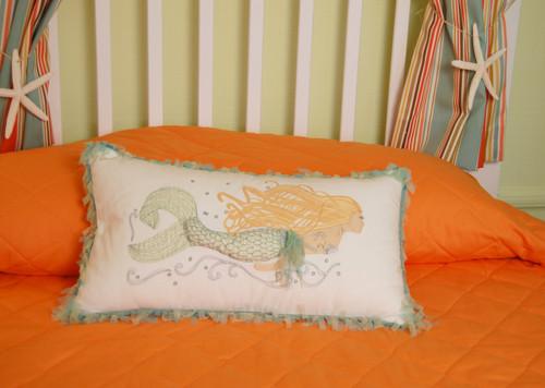 Pearl of the Sea Mermaid Lumbar Indoor Throw Pillow - Lifestyle