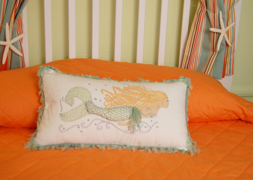 Pearl of the Sea Mermaid Lumbar Indoor Throw Pillow - Lifestyle