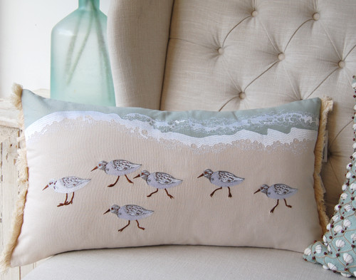 Sandpiper Lumbar Indoor Throw Pillow
