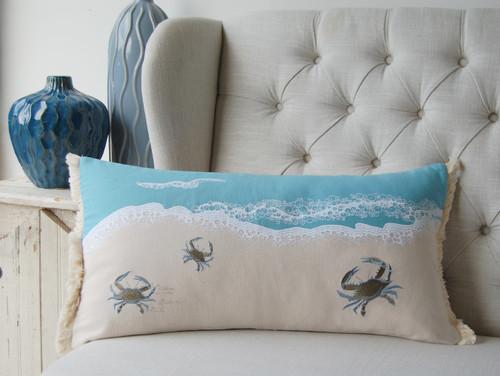 """""""Believe"""" Coastal Lumbar Indoor Indoor Throw Pillow - Lifestyle"""