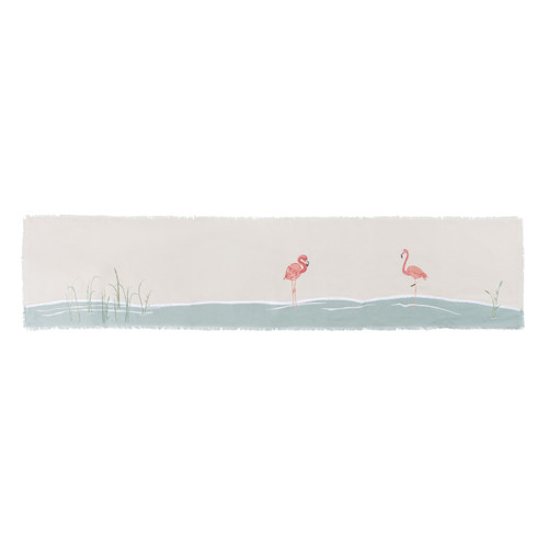 Flamingo Embroidered Table Runner