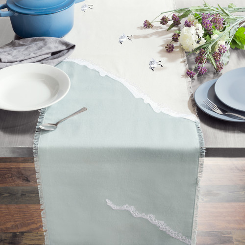Sand Piper Sprint Embroidered Table Runner - Lifestyle