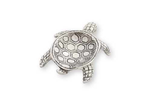 (41903) Aluminum Turtle Spoon Rest with Polished Nickel Finish