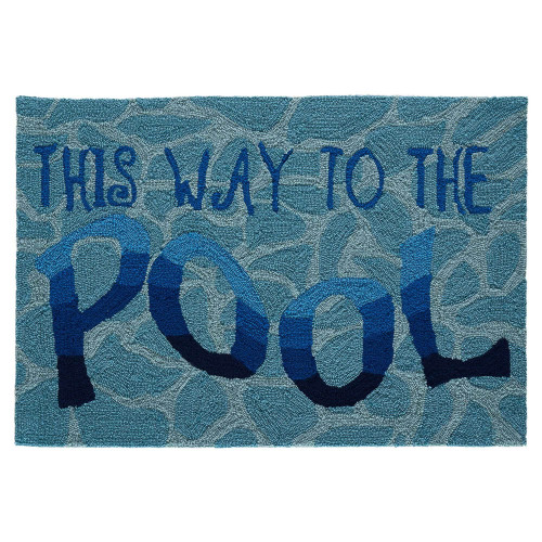 "Frontporch ""This Way to the Pool"" Indoor/Outdoor Rug"