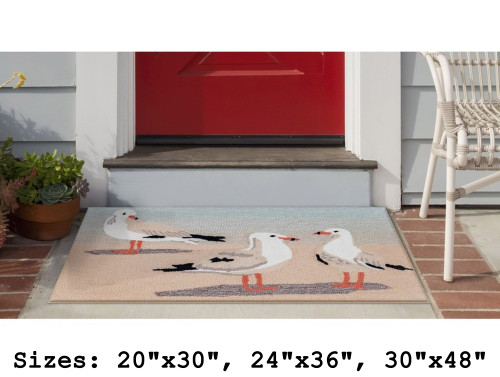Frontporch Gulls and Sand Indoor/Outdoor Rug - Rectangle Lifestyle