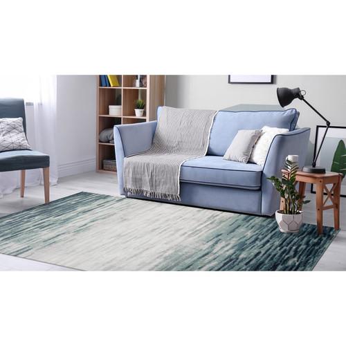 Blue Aurora Strata Indoor Rug -  Rectangle Lifestyle