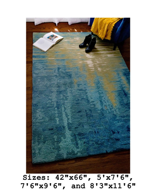 Corsica Ocean Reflection Indoor Rug - Rectangle Lifestyle