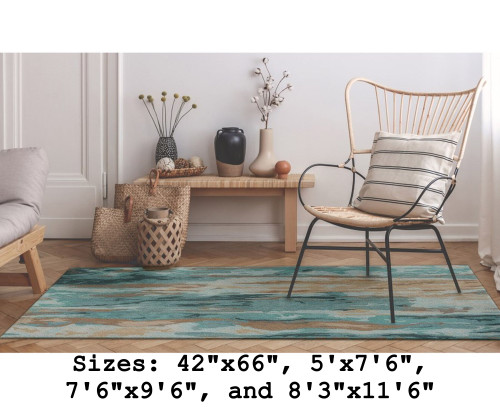 Corsica Patina Waterfall Indoor Rug - Rectangle Lifestyle