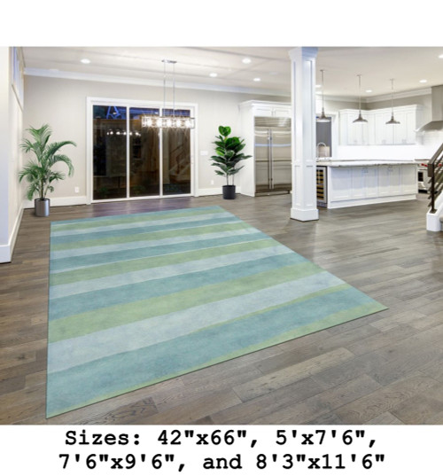 Piazza Sea Breeze Stripes Indoor Rug - Rectangle Lifestyle