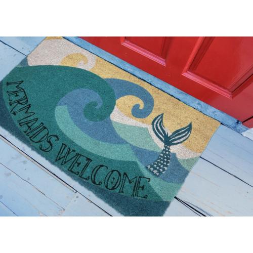 """Natura """"Mermaids Welcome"""" Indoor/Outdoor Rug - Lifestyle"""