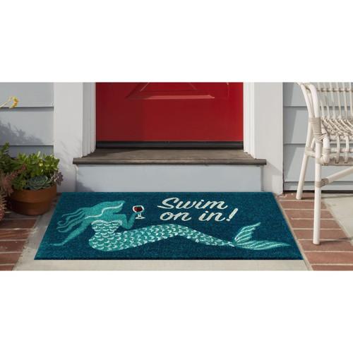"Natura ""Swim on In"" Mermaid Indoor/Outdoor Rug - Lifestyle"
