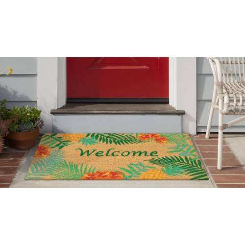 "Natura Tropical ""Welcome"" Indoor/Outdoor Rug - Lifestyle"