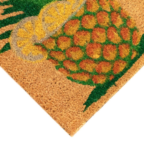 "Natura Natural Pineapple ""Welcome"" Indoor/Outdoor Rug - Pile"