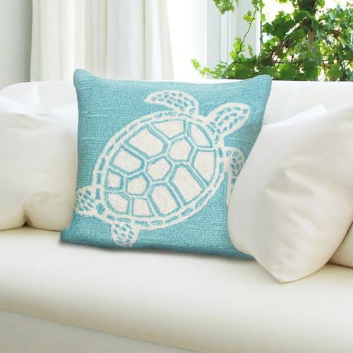 Frontporch Aqua Sea Turtle Indoor/Outdoor Throw Pillow - Lifestyle 2