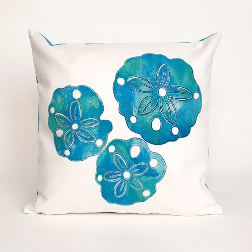 Visions Pearl Sand Dollar Indoor/Outdoor Throw Pillow - Square