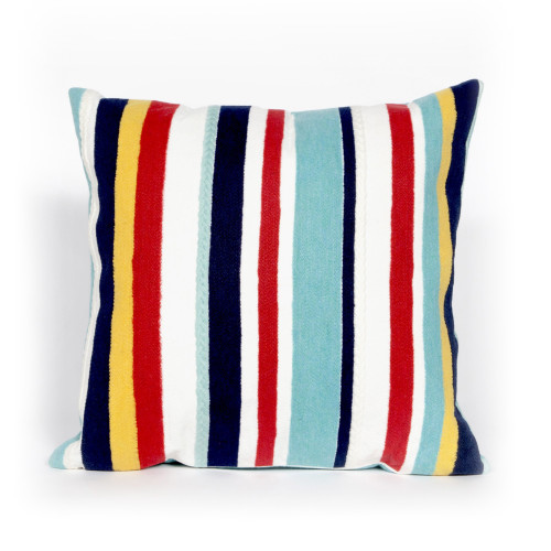 Visions Riviera Stripes Indoor/Outdoor Throw Pillow - Square