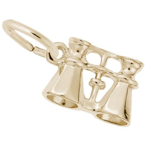 Binocular Charm - Gold Plated, 10k Gold, 14k Gold