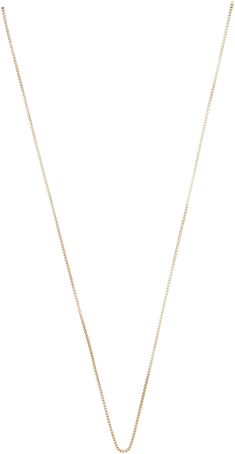 Box Chain Charm Necklace - Gold Plate, 10k Gold, and 14k Gold