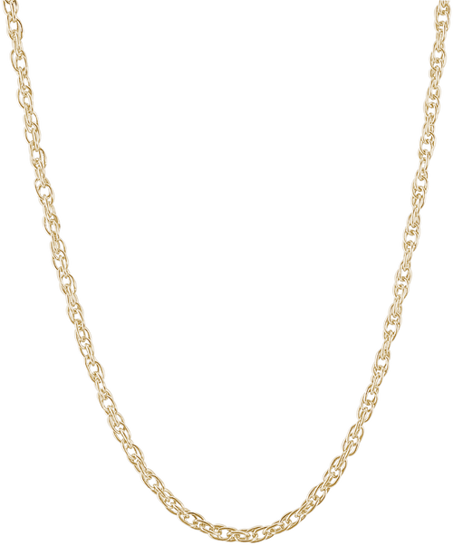 Rope Chain Charm Necklace - Gold Plate, 10k Gold, and 14k Gold