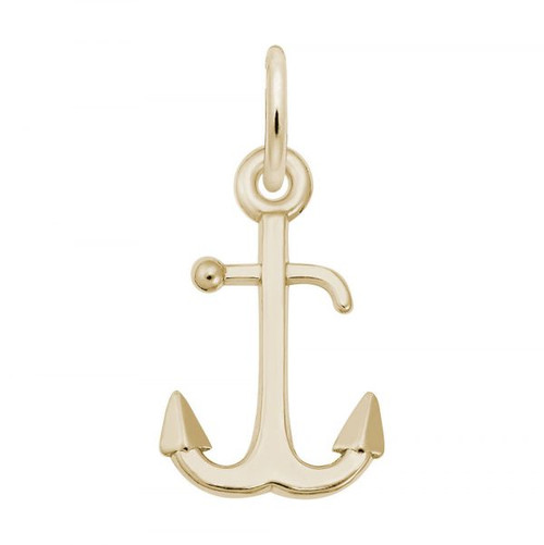 Anchor Accent Charm - Gold Plate, 10k Gold, 14k Gold
