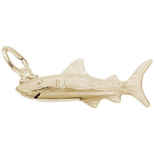 Great White Shark Charm -  Gold Plate, 10k Gold, 14k Gold