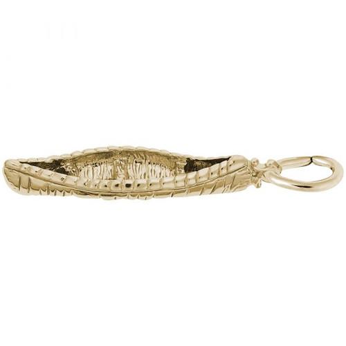 Canoe Charm - Gold Plate, 10k Gold, 14k Gold