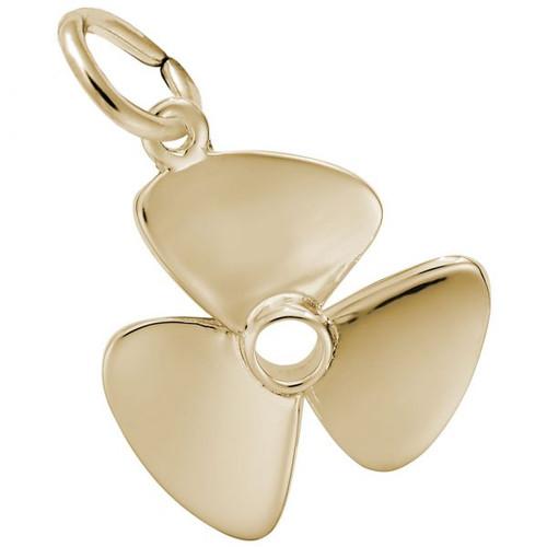 Propeller Charm - Gold Plate, 10k Gold, 14k Gold