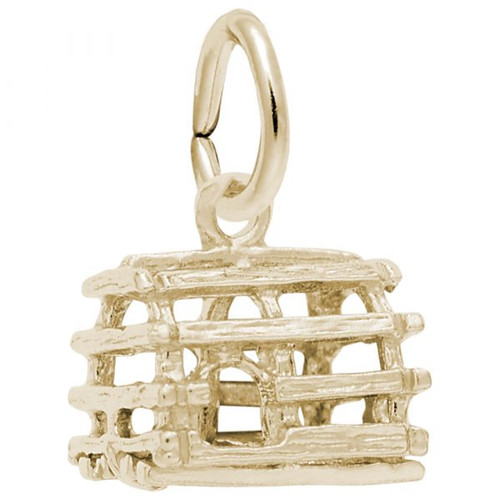 Lobster Trap Charm - Gold Plate, 10k Gold, 14k Gold