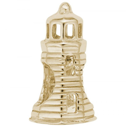 Lighthouse Bead - Gold Plate, 10k Gold, 14k Gold