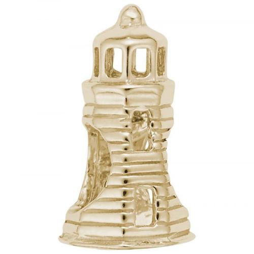 Lighthouse Bead - Gold Plate, 10k Gold, 14k Gold