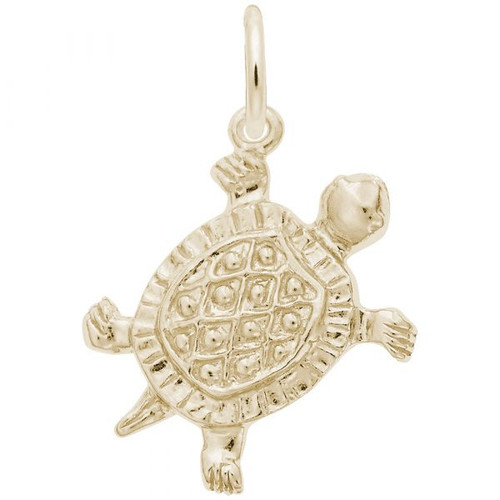 Turtle Charm - Gold Plate, 10k Gold, 14k Gold