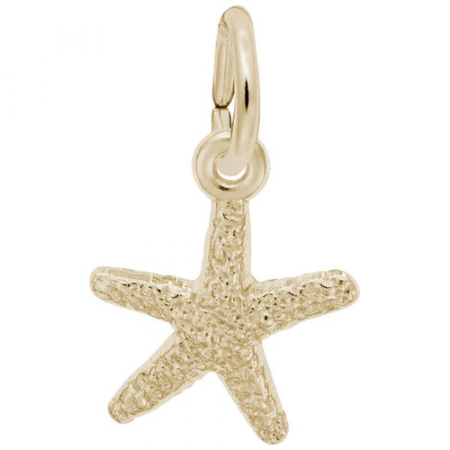 Starfish Charm - Gold Plate, 10k Gold, 14k Gold