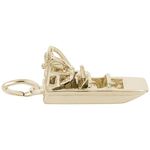 Air Boat Charm - Gold Plate, 10k Gold, 14k Gold