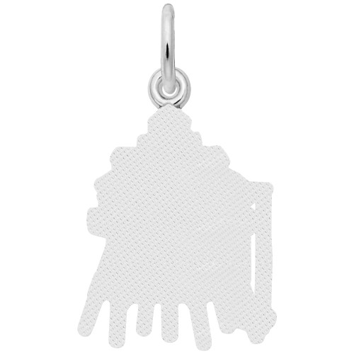 Thomas Point, MD Lighthouse Charm - Engraveable Backside - Sterling Silver and 14k White Gold - Optional Engraving