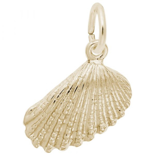 Angel Wing Shell Charm - Gold Plate, 10k Gold, 14k Gold