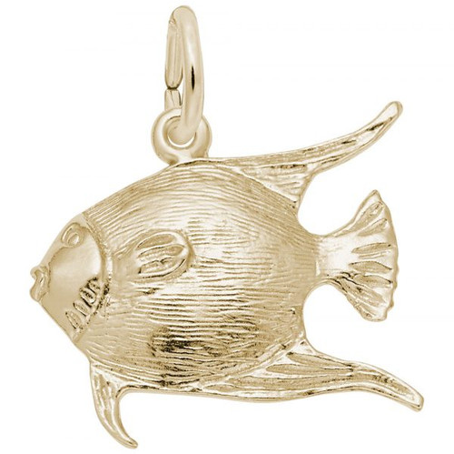 Angelfish Charm - Gold Plate, 10k Gold, 14k Gold