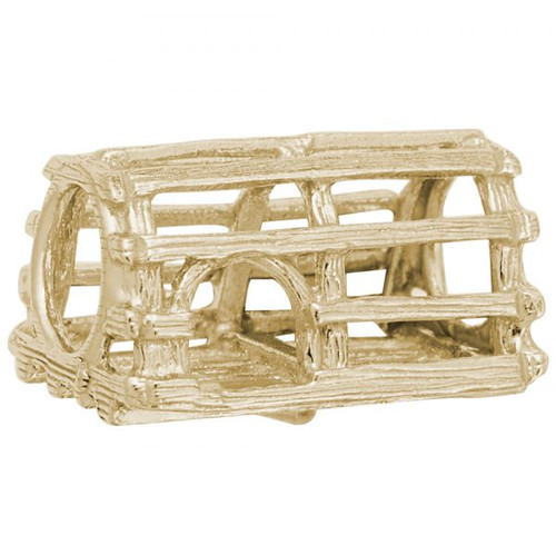 Lobster Trap Bead - Gold Plate, 10k Gold, 14k Gold