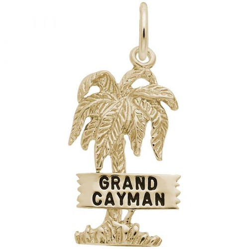 """Grand Cayman"" Palm Tree Charm - Gold Plate, 10k Gold, 14k Gold"