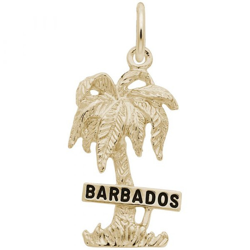 """Barbados"" Palm Tree Charm - Gold Plate, 10k Gold, 14k Gold"