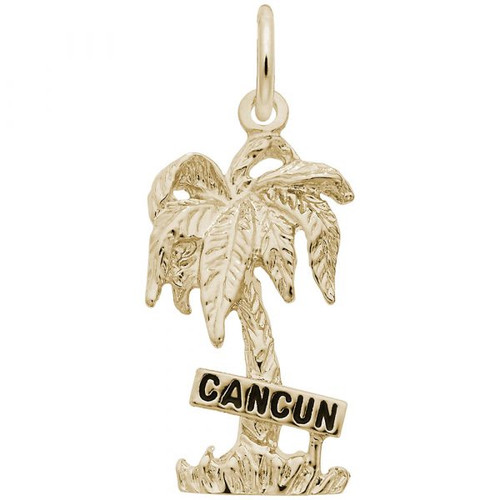 """Cancun"" Palm Tree Charm - Gold Plate, 10k Gold, 14k Gold"