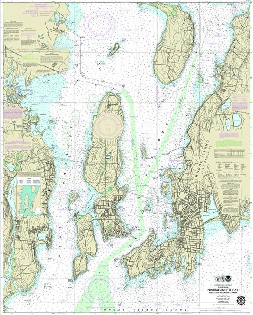 Nautical Chart - Narragansett Bay - w/Custom Option