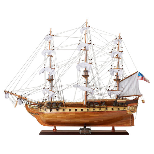 "USS Constitution Model Ship - 32"" w/ Table Top Display Case"