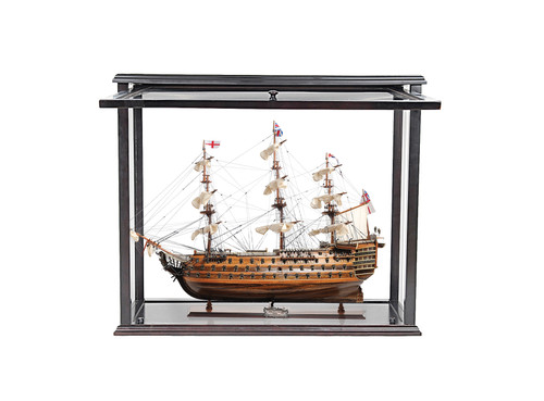 """HMS Victory Model Ship - 27"""" w/ Front Open Display Case - Optional Personalized Plaque"""