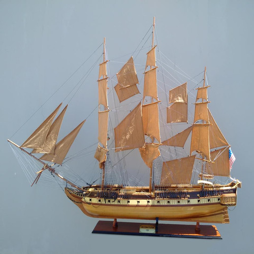"USS Constitution Model Ship - 50"" Extra Large Edition w/ Glass Free Display Case"