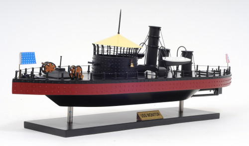 USS Monitor Model Warship - 24""