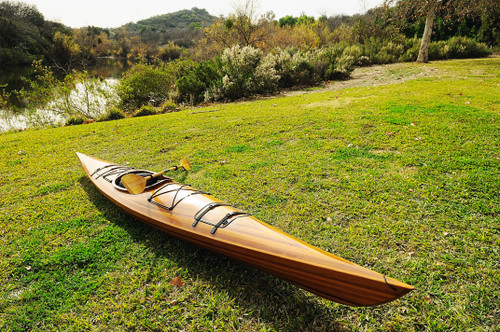 Wooden Single Person Kayak - 17' (K001)